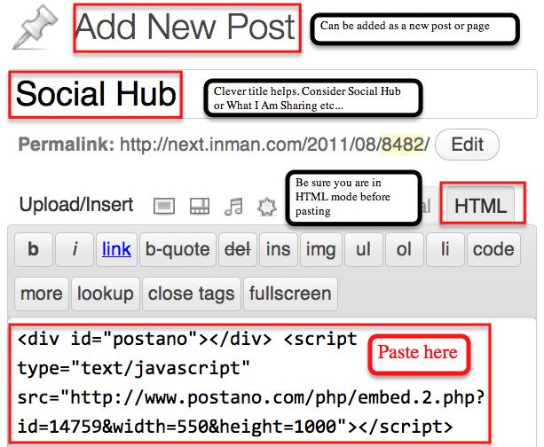 Wordpress Postano