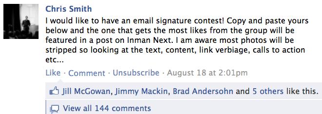 Email Signature Contest