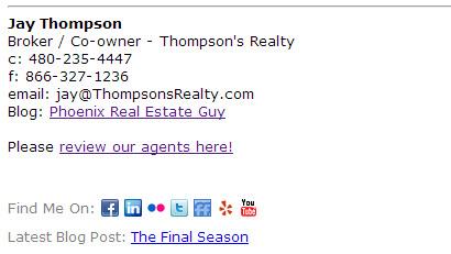 Jay Thompson email signature