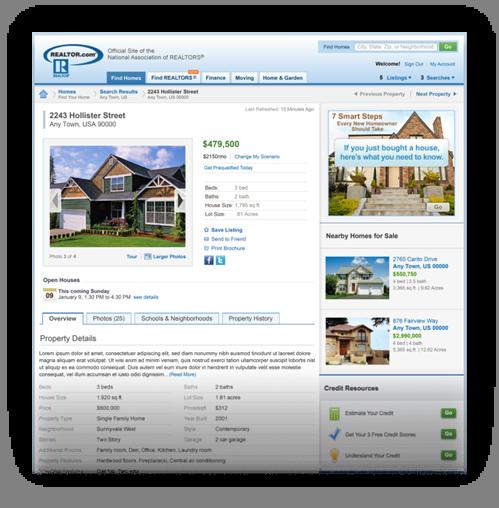 Basic free listing on Realtor.com