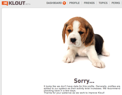 klout deleted
