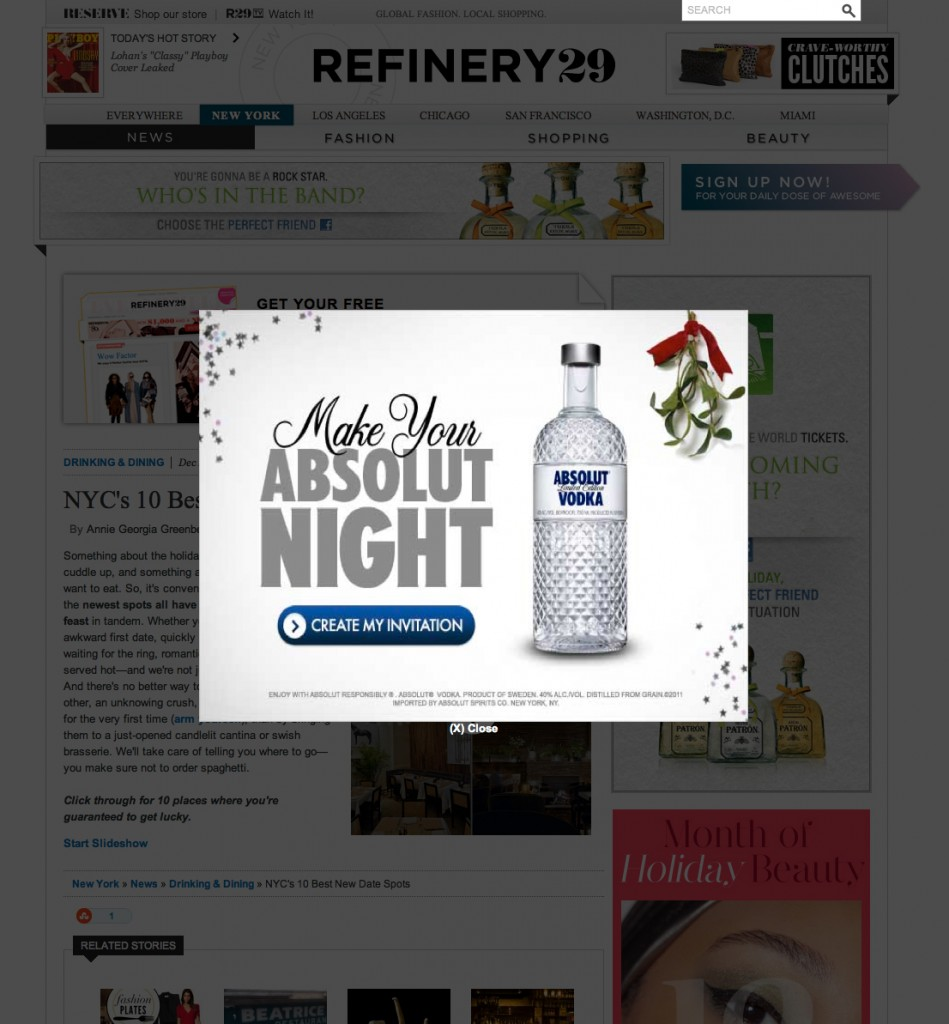Intrusive Ad Example