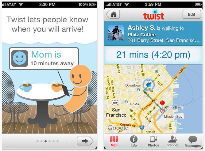 Twist iPhone app