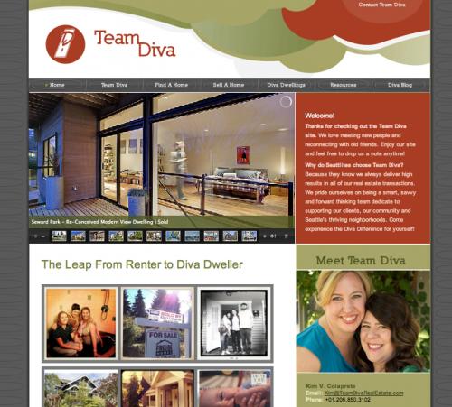Team Diva's website (screenshot)