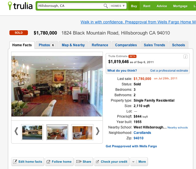 Trulia Real Estate Listings Homes For Sale Housing Data: Trulia Launches Real Estate Valuations In Beta