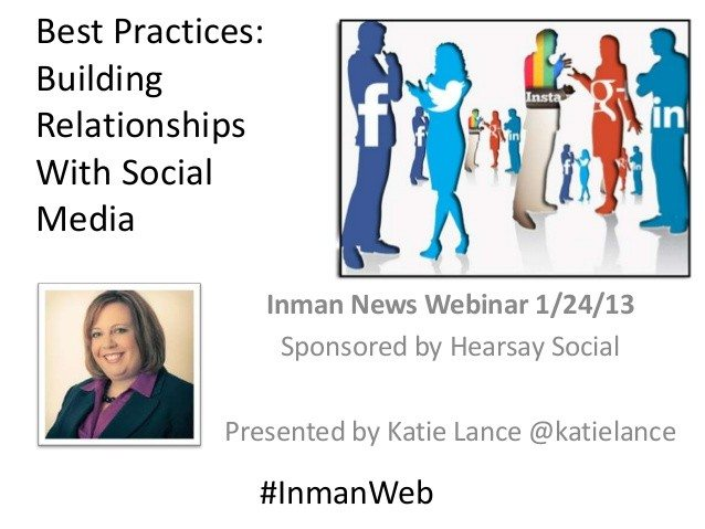 Best Practices: Building Relationships with  Social Media