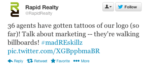 rapid realty tattoo tweet