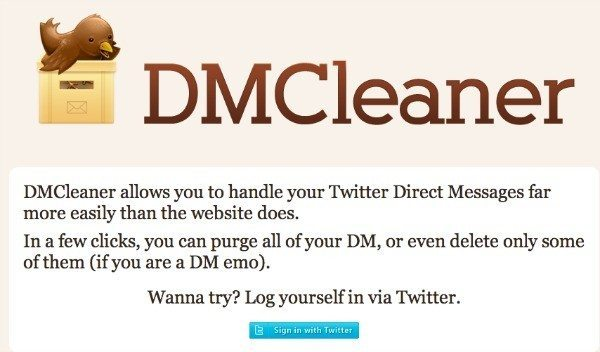 Twitter tools: DMCleaner whisks away your backlog of Twitter messages