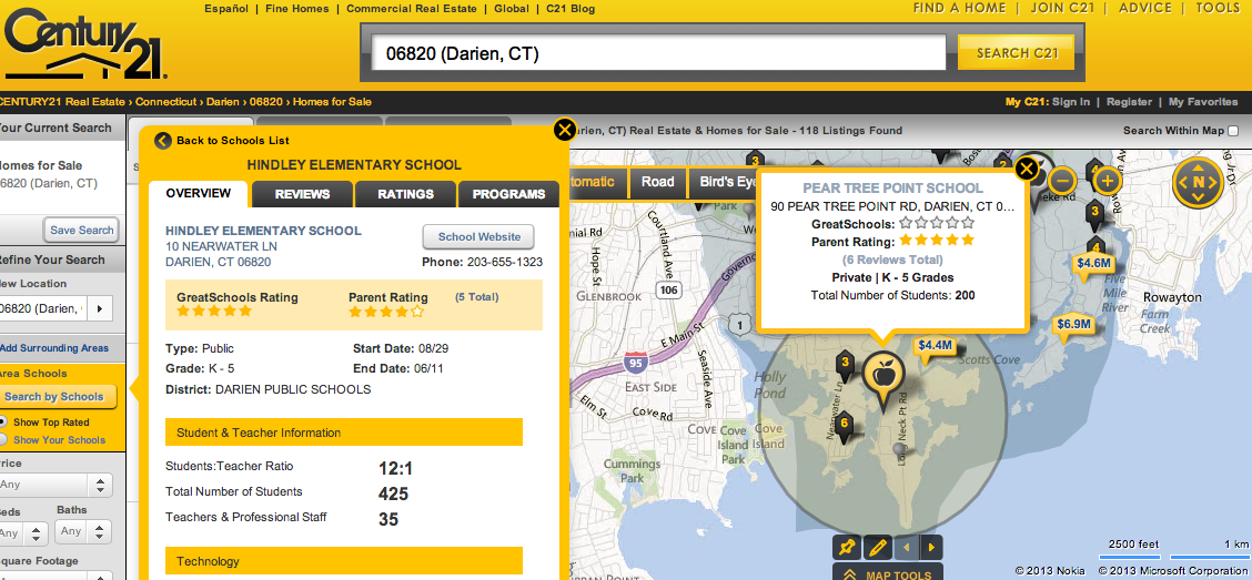 Century 21 adds 'search by school' tool to website