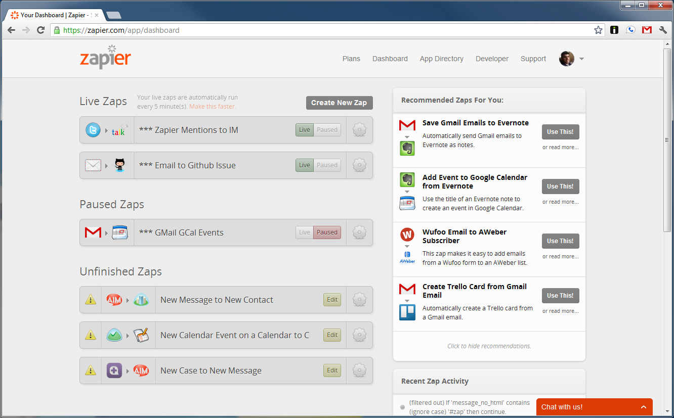 Streamline and automate tasks using your favorite applications and Zapier