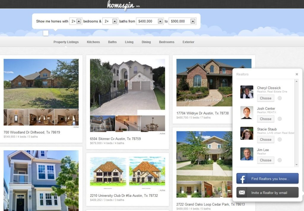 Visual home search portal Homespin now in 3 Texas markets