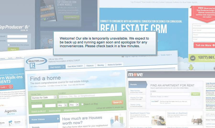 Realtor.com experiences unexpected outage