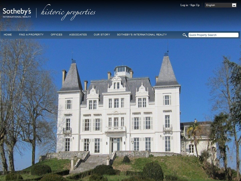 Sotheby's International Realty's latest specialty website features historic properties