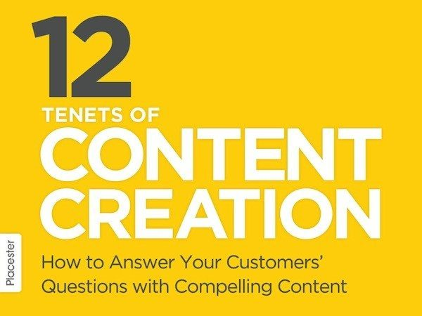 12 tenets of content marketing