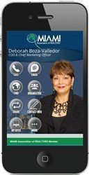 Miami Realtors get mobile, online business cards