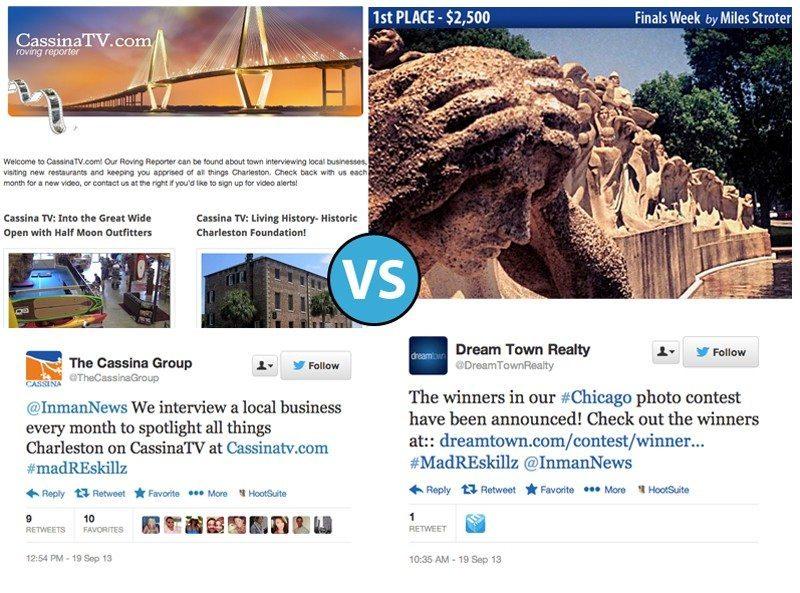 Video news blog vs. cash-awards photo contest