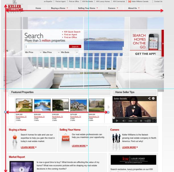Screen shot of Keller Williams Realty's home page.