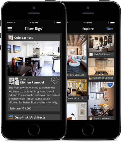 New Zillow Digs iPhone app aims to inspire remodelers