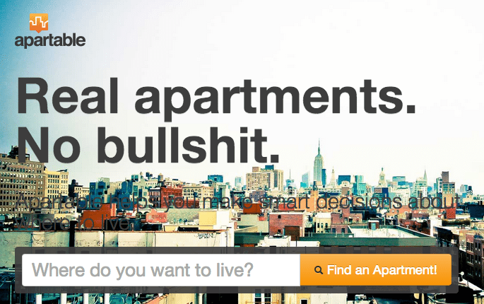 Apartable, NYC rental site, promises 'Real apartments, no bullshit' [VIDEO]