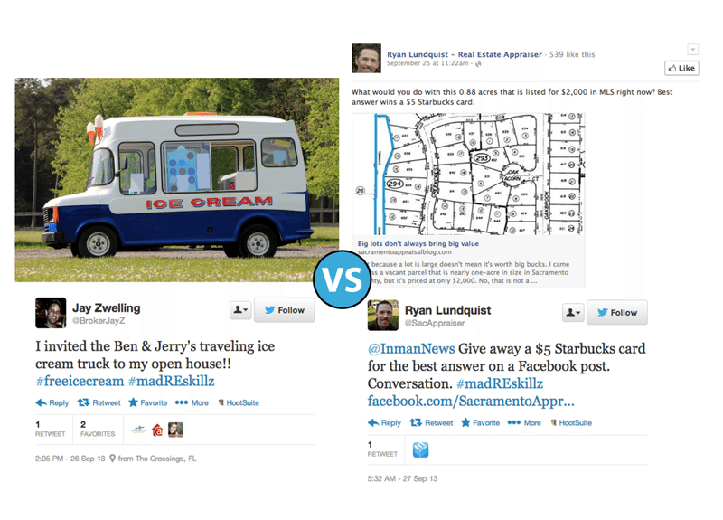 Ben & Jerry's ice cream truck vs. Facebook gift card