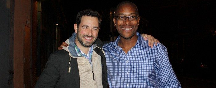 Moz CEO Rand Fishkin, left, and SEER Interactive CEO Wil Reynolds.
