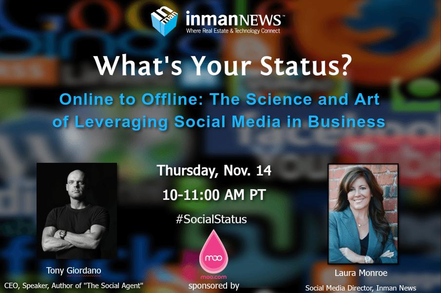 What's your status? Online to offline: leveraging social media [webinar recording]