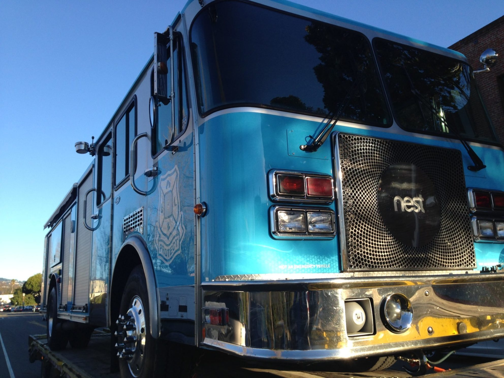 Nest pimps old fire truck, puts it on the street selling smart thermostats and fire alarms