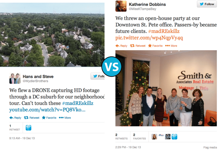 Drone tours vs. open-house office parties