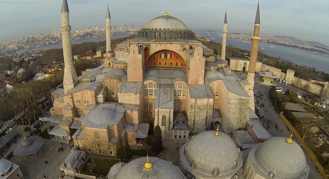 Eyes of the bird: a drone over Hagia Sophia