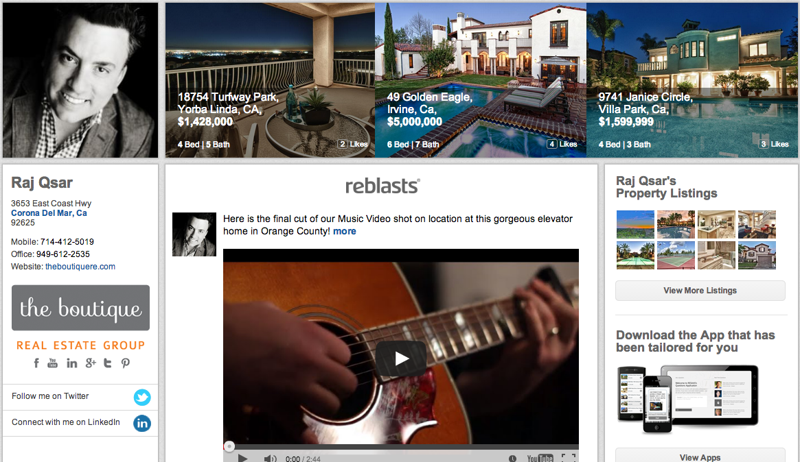 Think of RESAAS as a mashup of Facebook, Twitter and LinkedIn with a real estate twist