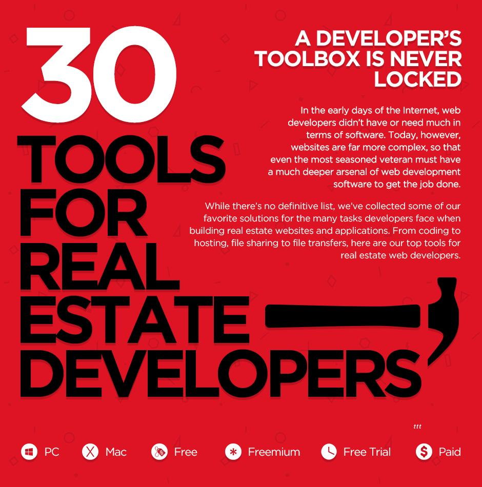 30 tools real estate Web developers use to up their game [infographic]