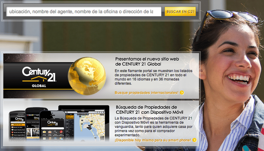 Century 21's Spanish-language property search site gets makeover
