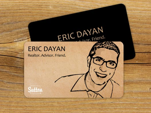 Eric Dayan's business cards  as seen on Behance
