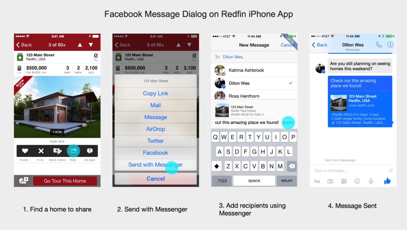 Redfin's revamped iPhone app includes Facebook Messenger integration