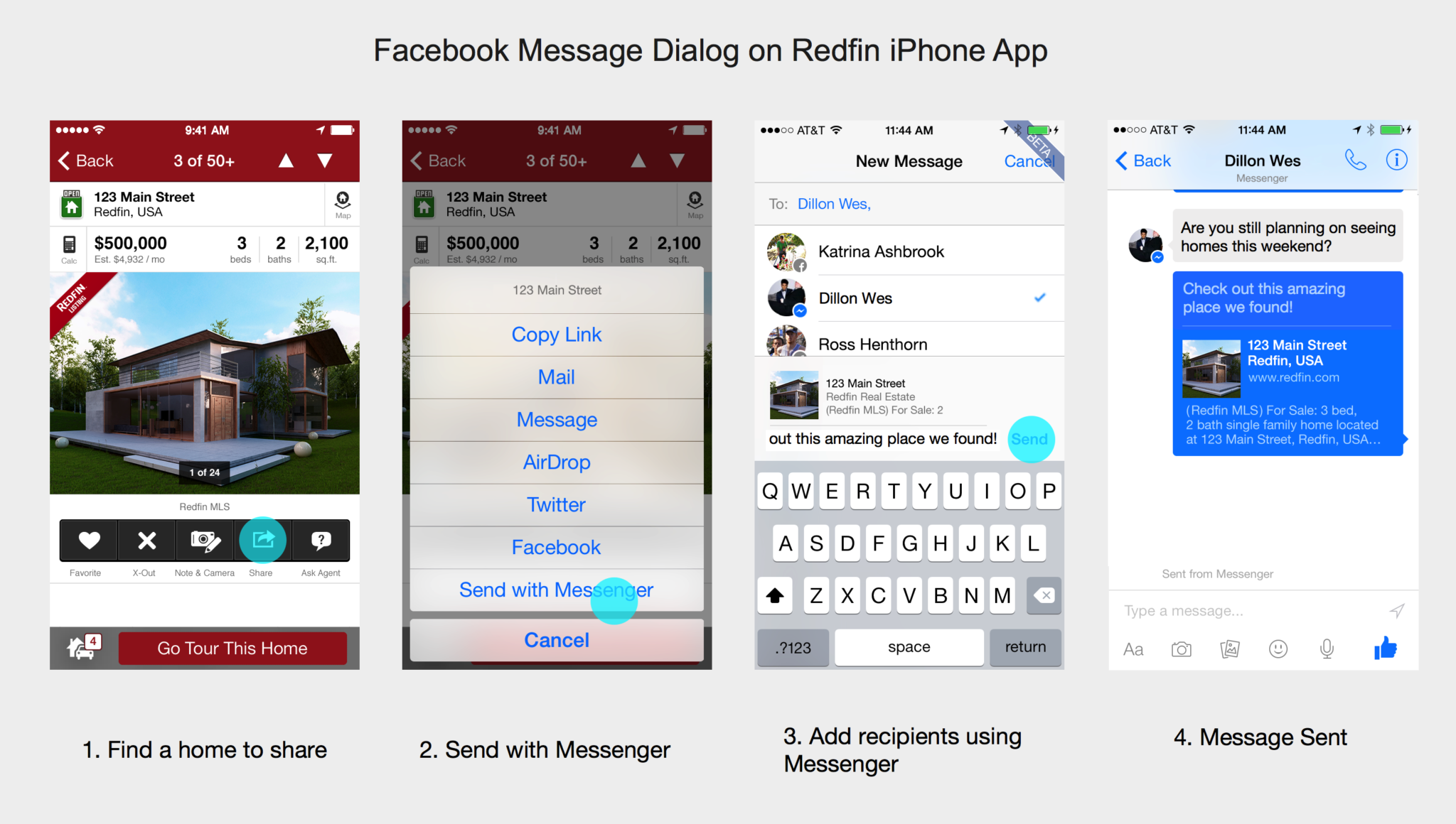 Redfin's revamped iPhone app includes Facebook Messenger integration