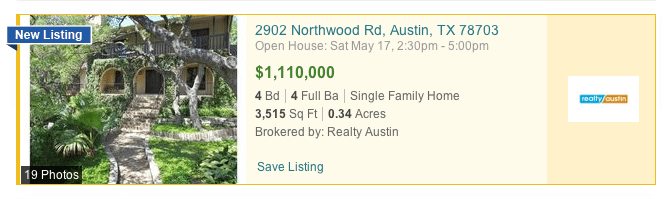Showcased properties on realtor.com are highlighted in yellow on search results pages.