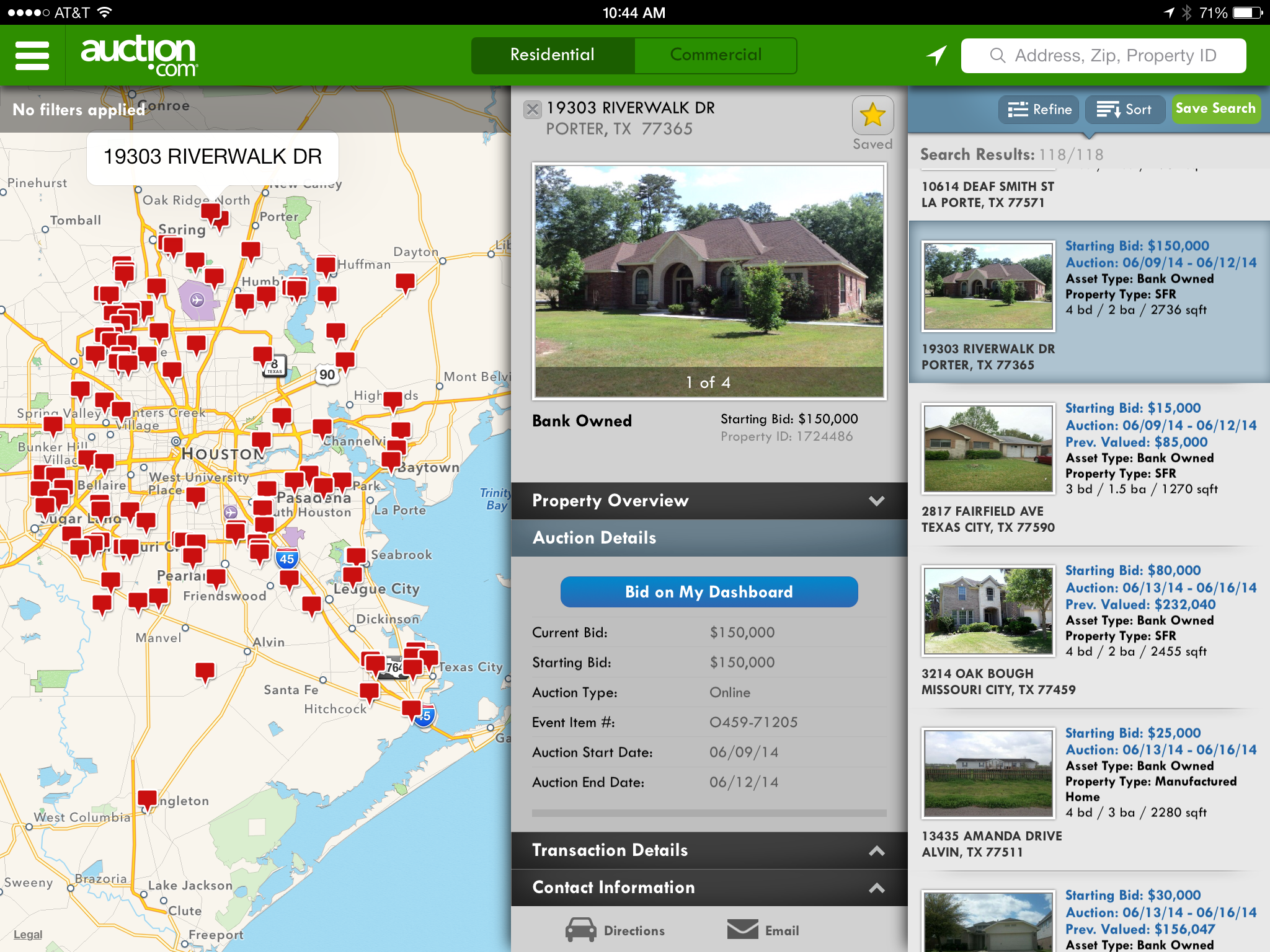 Auction.com iPad App - Property Page 1