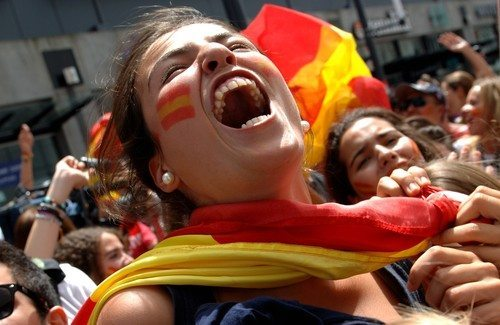Spanish soccer fan image via Shutterstock