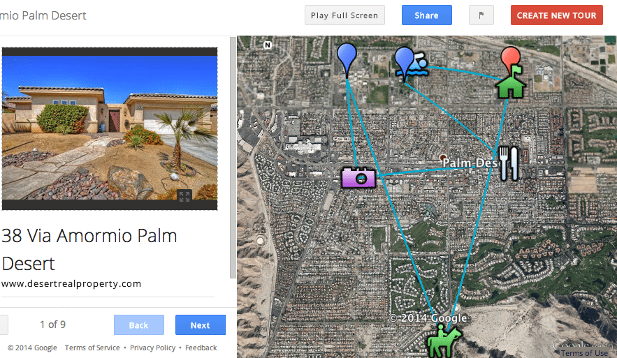 Screen shot showing tour built by #madREskillz follower @Realestate760.