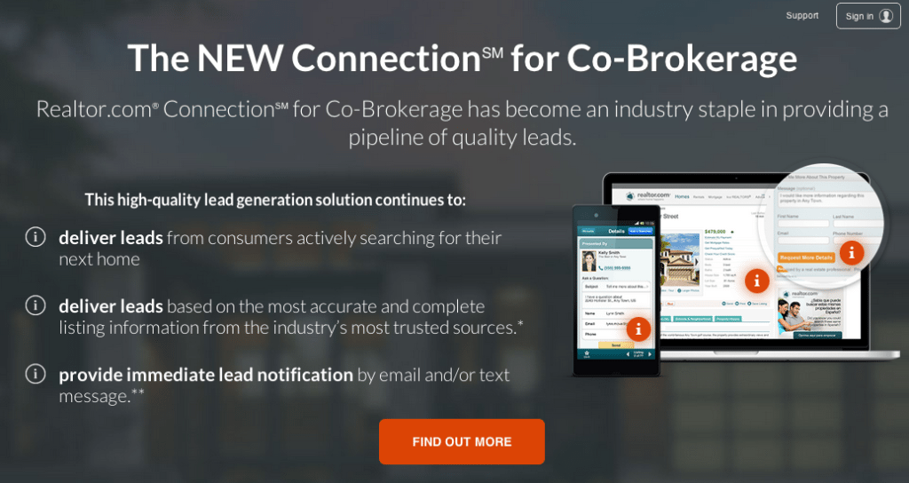 Realtor.com hikes prices for exclusive leads from Connection for Co-Brokerage ad product