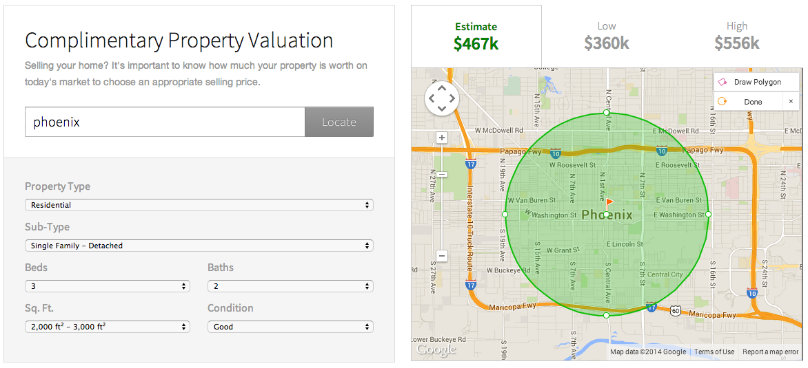 Real Estate Webmasters' property valuation tool captures seller leads