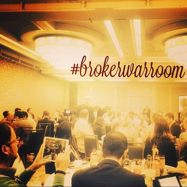 "The ""Broker War Room"" room was packed with 100-plus broker-owners talking shop. Photo by one of the presenters Tiffany Kjellander."