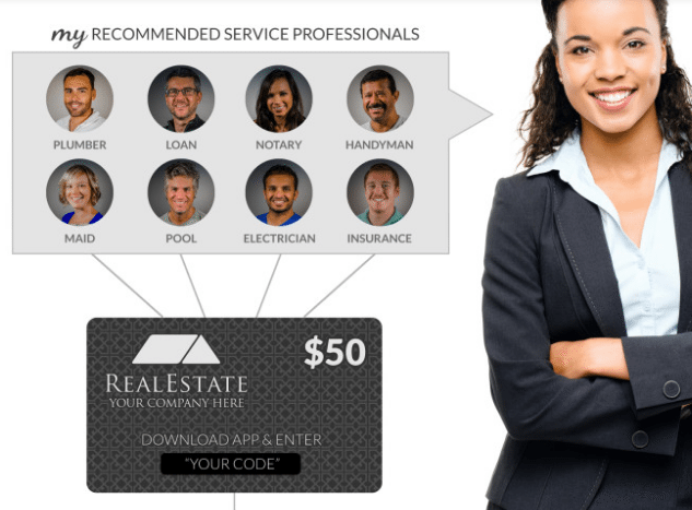 HouseCall lets real estate agents instantly refer clients to their preferred vendors