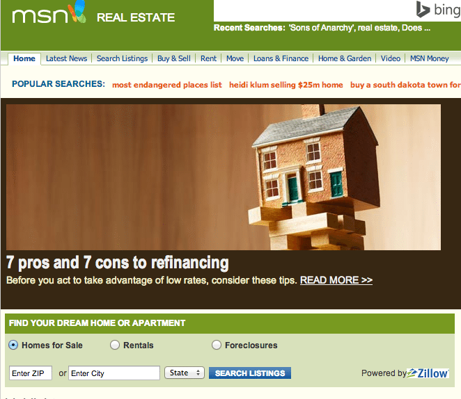Zillow takes over real estate search at MSN Real Estate after Move Inc.'s exit