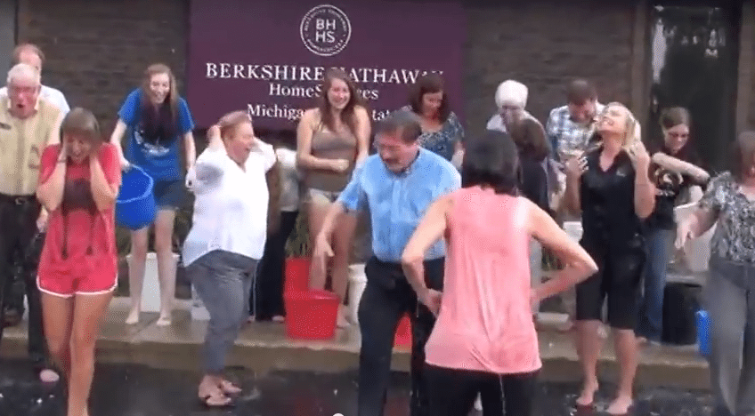 Real estate embraces ALS 'ice bucket challenge'