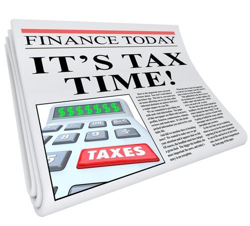 Tax deadline image via Shutterstock.