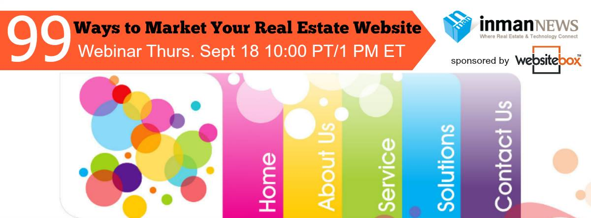 99 ways to market your real estate website