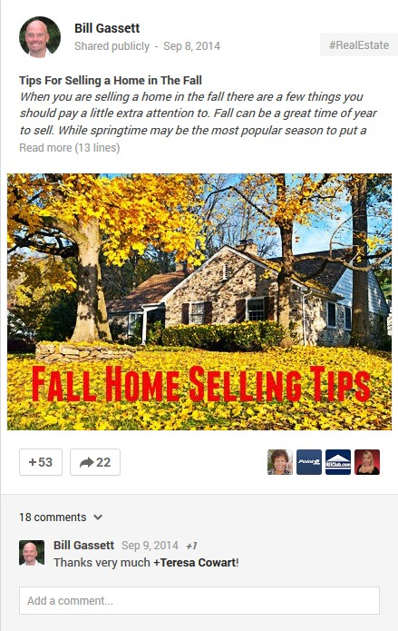 Google Fall Home Selling Tips