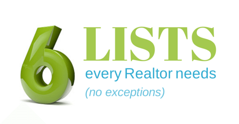 6 powerful lists every Realtor needs to succeed