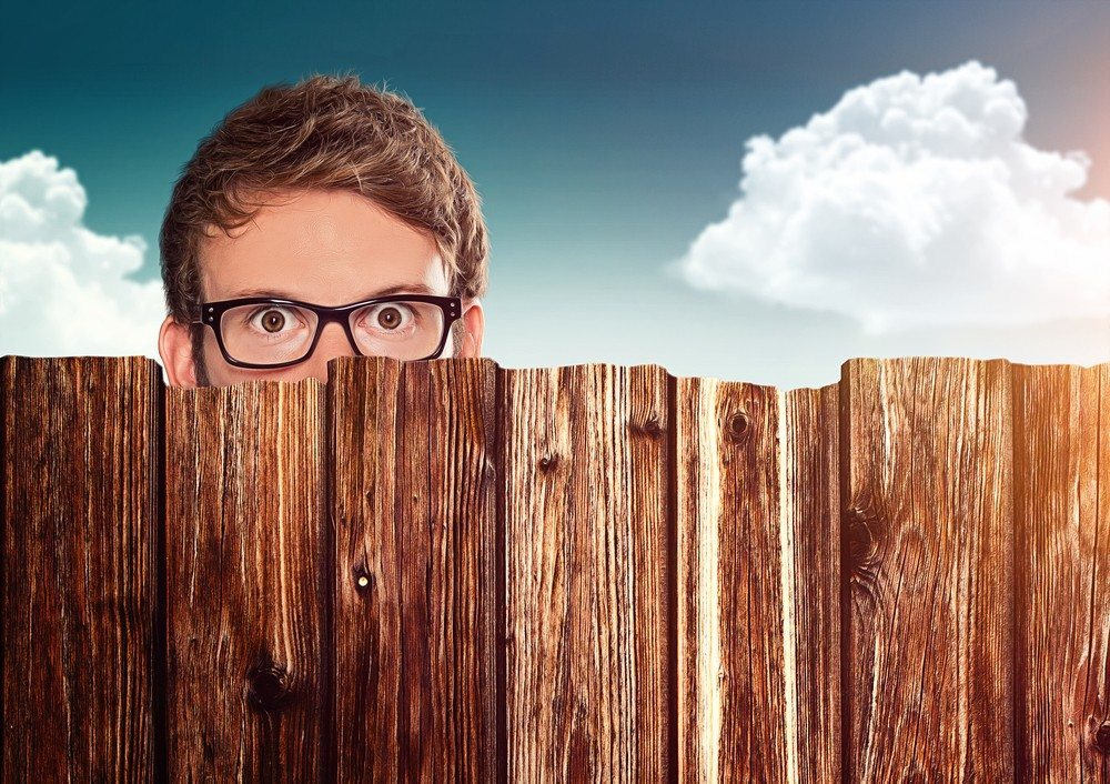 Nosy neighbor image via Shutterstock